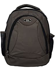 World Class Leather Canvas 17.5 Ltrs Green School Bag