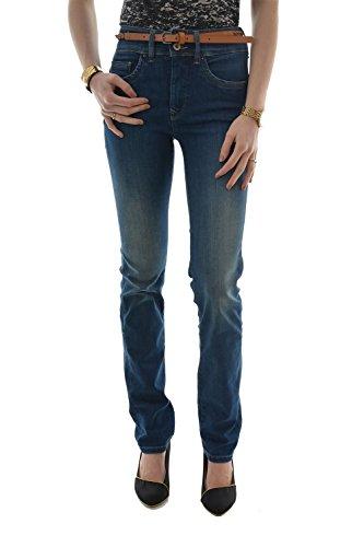 Salsa-Jeans Secret Push in Slim e cintura in regalo-Donna blu 30 W/32 L