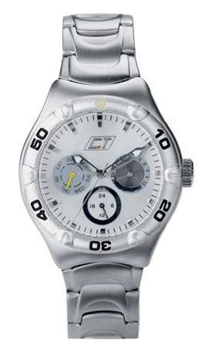 Chronotech Men's Silver Dial Brushed Stainless Steel Watch