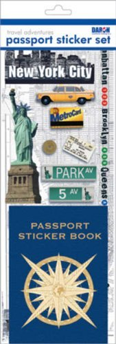 Passport Sticker Sets PP59126 Passport or Scrapbooking Sticker Set-New York City 1