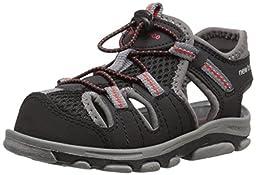 New Balance Adirondack Closed Toe Sandal (Infant/Toddler/Little Kid), Black/Grey, 9 M US Toddler