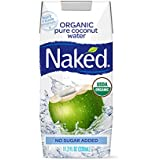 Naked 100% Organic Pure Coconut Water, 11.2-ounce (Pack of 12)
