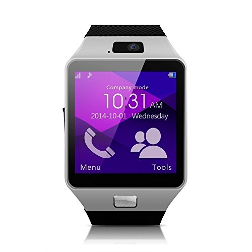 Dz09 TM Brand Wearable Smart Watch Phone DZ09 1.56 inch Touch Screen Bluetooth 3.0 Sync Call/SMS/Phonebook Sleep Tracker Sports for Smartphone