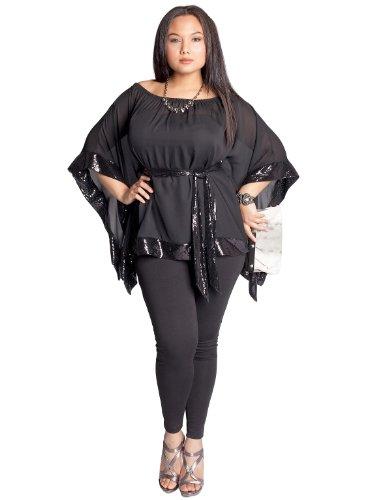 Cheap IGIGI by Yuliya Raquel Plus Size Tanja Tunic in Black
