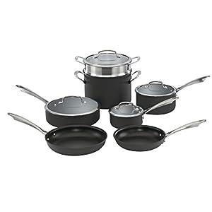 Cuisinart DSA-11 Dishwasher Safe Hard Anodized 11 Piece Cookware Set