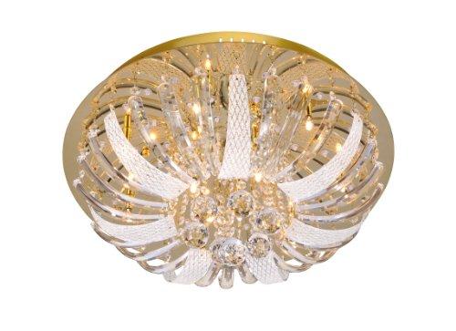 Paul Neuhaus 50382-10 - Lampadario Sylla con pendenti in cristallo, 10 luci LED
