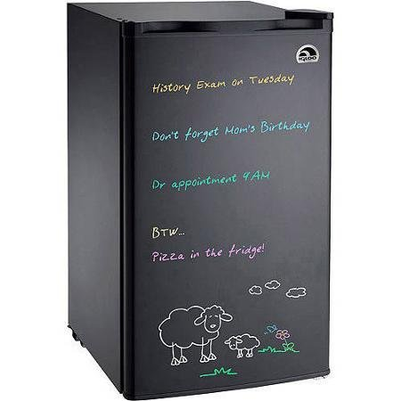 Igloo Black Eraser Board Refrigerator, 3.2 cu ft, with Reversible Door (Fridge Igloo compare prices)