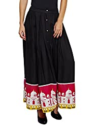 Jalebe Women's Full Skirt_INDTJBL017_Black_S