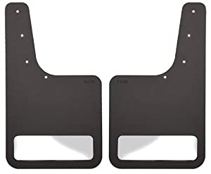 Husky Liners Stainless Steel Rear Mudguard Insert for Select Ford F-150/Lincoln Mark Models – Pack of 2 (Black)