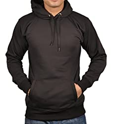 Vibgyor Full Sleeve Hooded Men's Black Sweatshirt