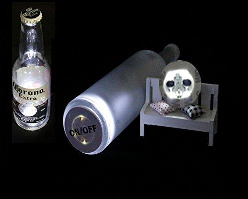 Glowseen® Light Up Light Bottle Drinking Sticker (Pack of 3 sticker) (White)