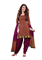 Charu Boutique Womens Cotton Dress Material (Smm8963-09 -Multi-Coloured -Free Size)