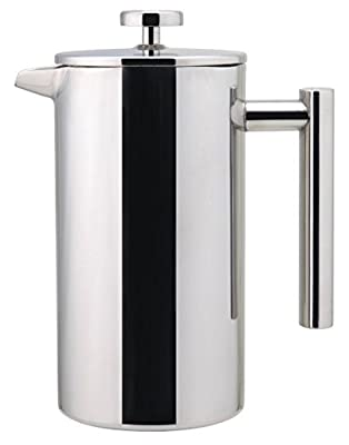 French Coffee Press - Double Wall 100% Stainless Steel - 32 Oz - by Utopia Kitchen from Utopia Kitchen