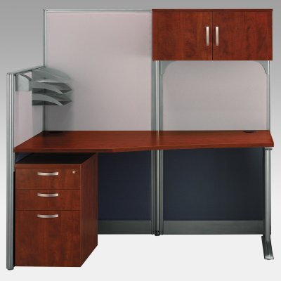 Buy Low Price Comfortable Bush Office-in-an-Hour Computer Desk with Storage – BHI673 (B003ZJ9XV0)