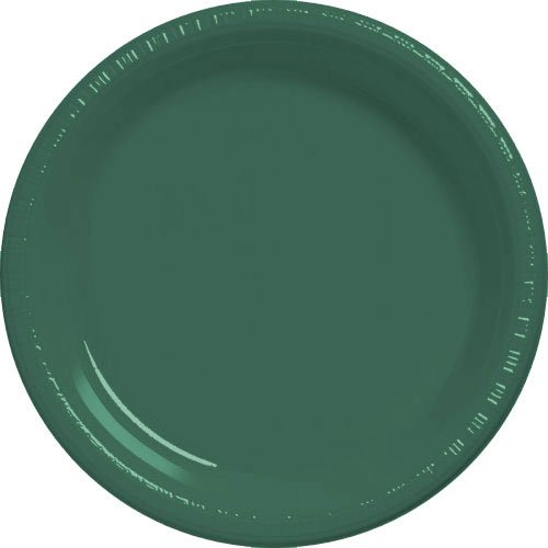 Forest Green Plastic Dessert Plate 20ct