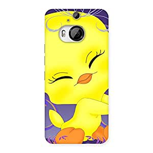 Cute Yellow Tweet Back Case Cover for HTC One M9 Plus