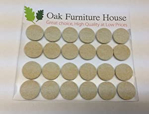 24 Oak Furniture Self Adhesive Felt Pads Wood Floor