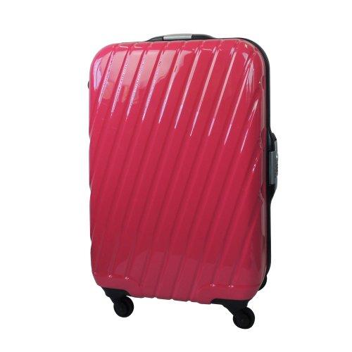 【 President 】スーツケース 超軽量樹脂フレーム TSAロック搭載 【ピュール pule】3年保証 6COLOR 2サイズ【大型、中型】 (中型 Mサイズ 60リットル, ピンク)