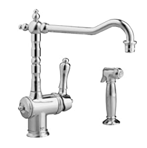 Jado 850 860 100 Victorian Single Lever Kitchen Faucet With Side Spray Polished Chrome Touch