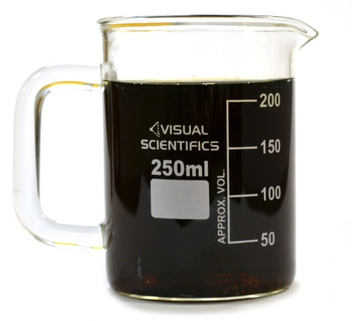 Premium Beaker Mug, Thick Borosilicate Glass, 8.4Oz (250Ml) Capacity front-638703