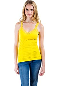 Seamless Laced Camisole in Yellow
