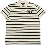 【メンズ】POLO JEANS COMPANY(ポロジーンズ)ボーダー鹿の子ポロシャツ(OffWhite)/Ralph Lauren XL [並行輸入品]