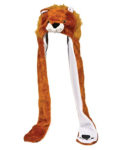 Plush Bear Hat Novelty Cap Animal Costume Beanie With Long Paws