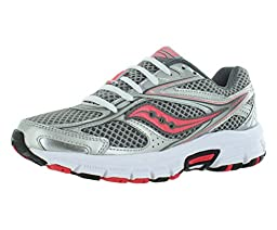 Saucony Women\'s Cohesion 8 Road Running Shoe, Silver/Grey/Coral, 8 M US