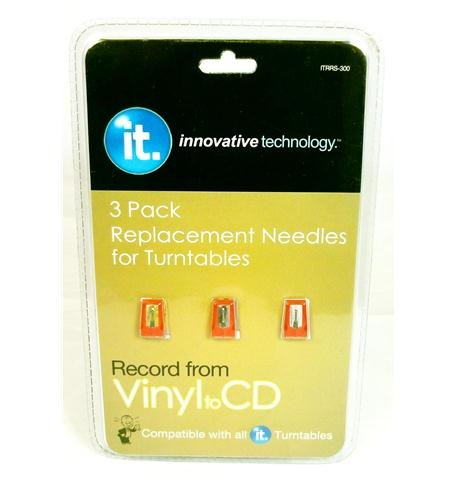 Pack Replacement Needles for Turntables ITRRS-30