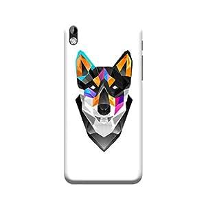 BUZZWORLD HTC 816 Justin Maller Fox 3D Printed Mobile Back Case Cover (Matte) (Multicolor)