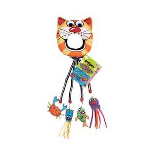 image Fat Cat Catfisher Doorknob Hanger with 4 Catnip Lures