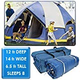 Camping/Outdoors Deluxe Two Room Family Dome Tent – 14′ X 12′ .