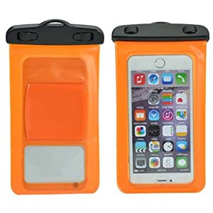 Univeral Sports Running Armband Waterproof Bag Case For Phones Below 6 inch-Orange