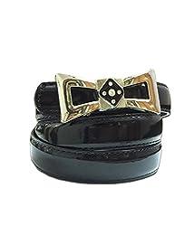 Vibhavari Black Leatherette Belt
