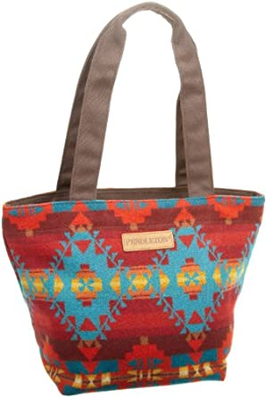 Pendleton Men's City Tote, Red/Turquoise Yuma, One Size