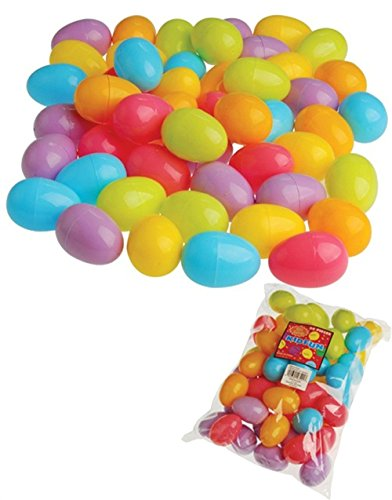 Plastic Easter Eggs (50 per order), Assorted Colors