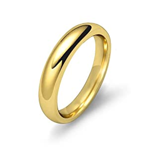 6g Men's Dome Wedding Band 5.5mm Heavy & Comfort Fit 18k Yellow Gold Ring (4)