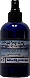 Colloidal Silver Water 8-Oz 10 PPM with Fine Mist Spray