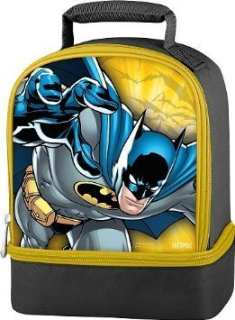 Thermos Batman Boy's Dual Compartment Lunch Kit - Black with Yellow Trim at Gotham City Store