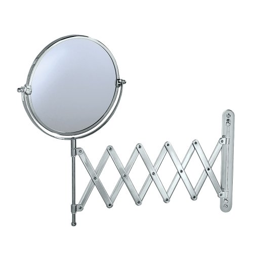 Gatco 1439C Accordian Arm Wall Mount Mirror, Chrome front-1000488