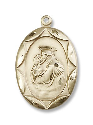 Gold Filled St. Anthony Medal Pendant Charm with 24