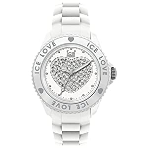 ICE-Watch - Montre femme - Quartz Analogique - Ice-Love - White - Big - Cadran Blanc - Bracelet Silicone Blanc - LO.WE.B.S.10