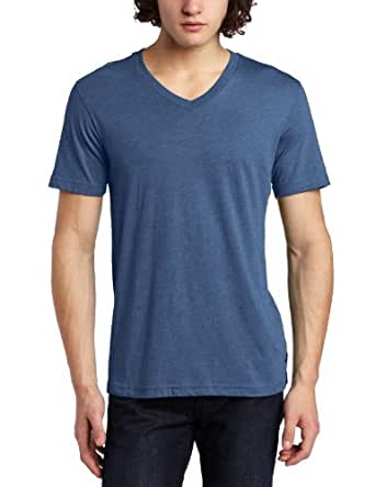 Volcom - Mens Solid Heather V-Neck Too S/S T, Size: XX-Large, Color: Teal Smoke Heather