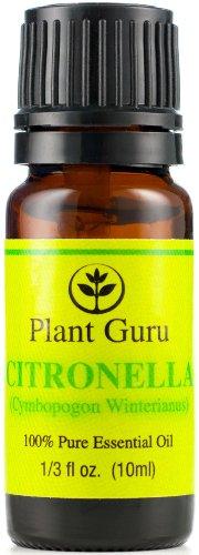 Citronella Essential Oil. 10 Ml. 100% Pure, Undiluted, Therapeutic Grade.