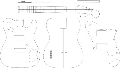 Electric Guitar Routing Template - Deluxe