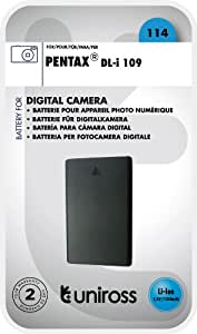 Uniross U0239097 Batterie pour appareil photo Pentax D-Li109 1050 mAh 7,4 V