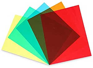 "Colored Overlays / Tinted Plastic Film Sheet, Full Page 8½"" x 11"