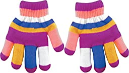 True Gear Cold Weather Children\'s Insulated Winter Colorful Gloves (Pink)