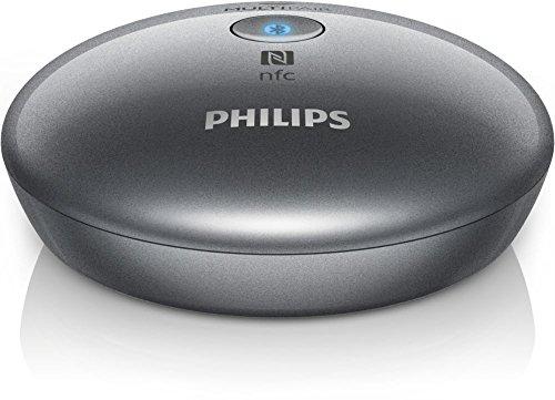 Philips AEA2700- Adaptador de audio (NFC, Bluetooth, 3.5 mm), plateado