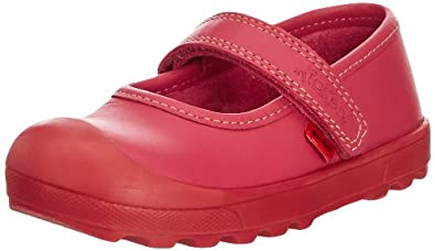 Kickers Girls Plunk Bar IF Mary Jane Flats 112730 Dark Pink 5 UK Child, 22 EU